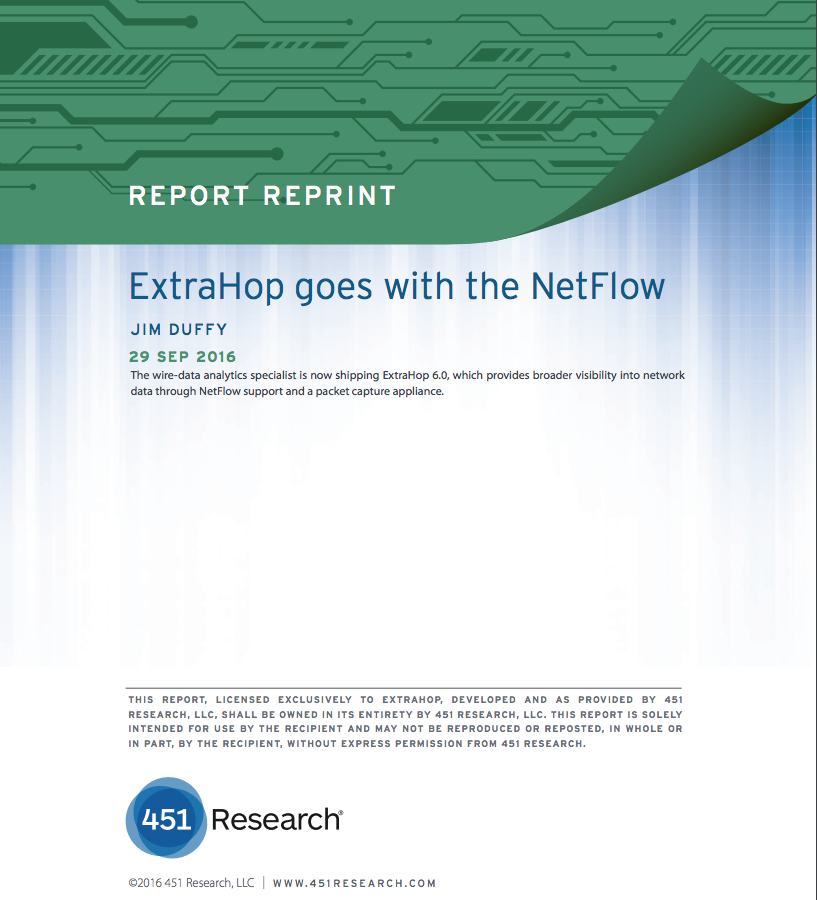 451 Report on ExtraHop Netflow Capabilities