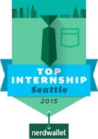 NerdWallet Top Internship 2015 badge