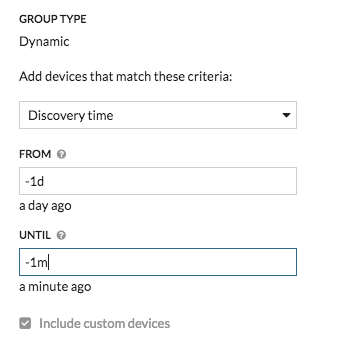 Device Group Discovery Range