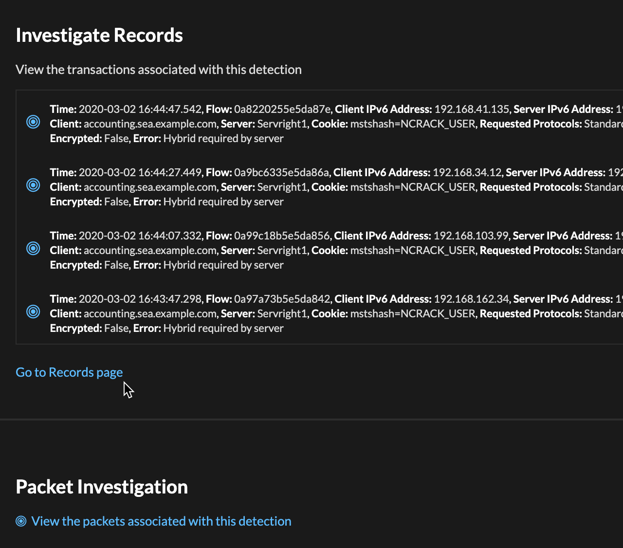Investigation Records