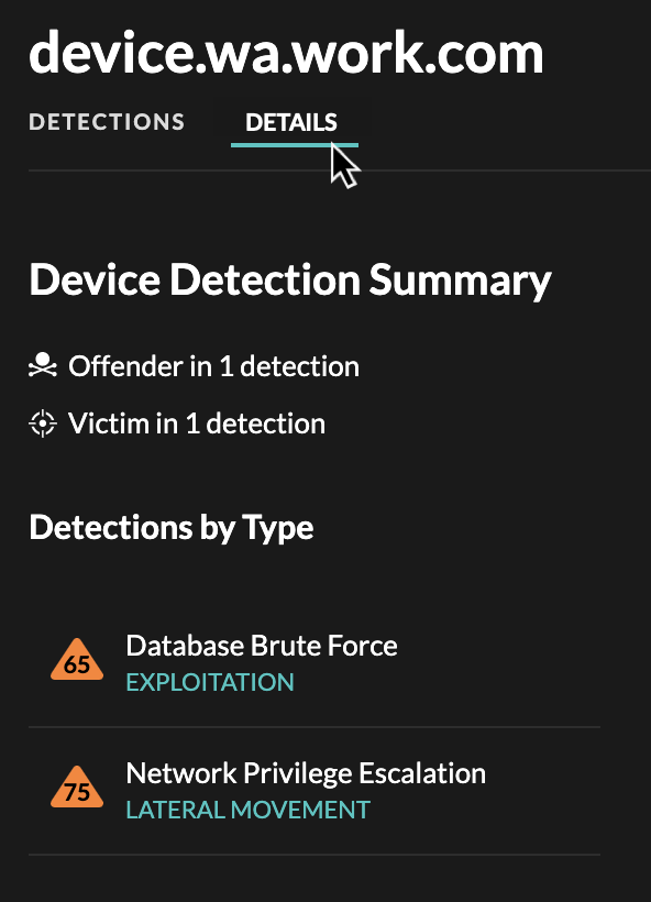 Device Detection Summary