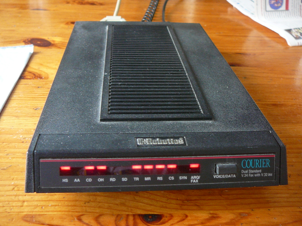 Dusty old modem