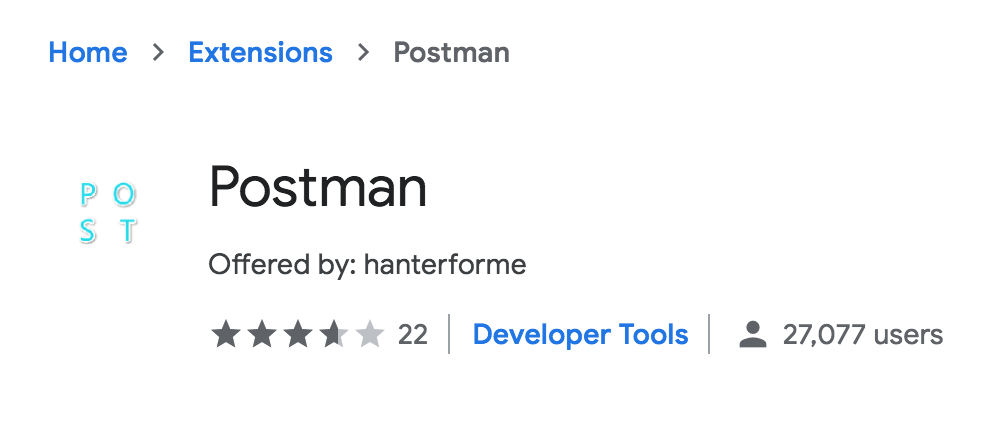 So-called Postman extension on the Chrome Store