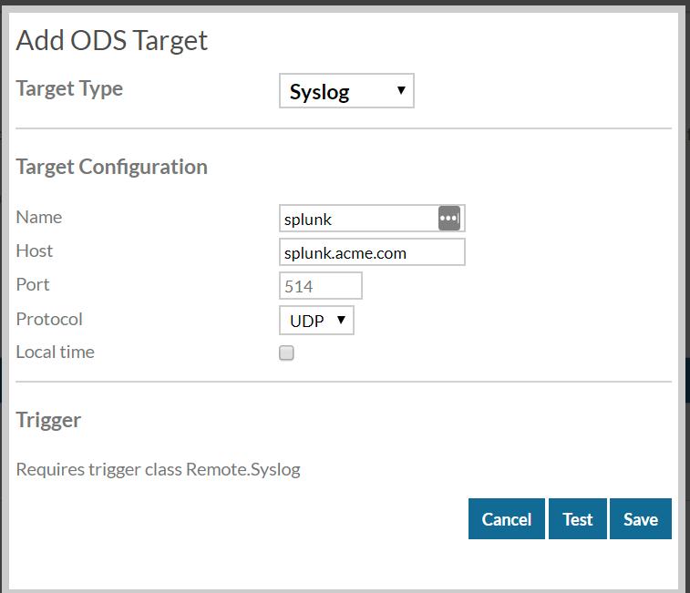 Add ODS Target