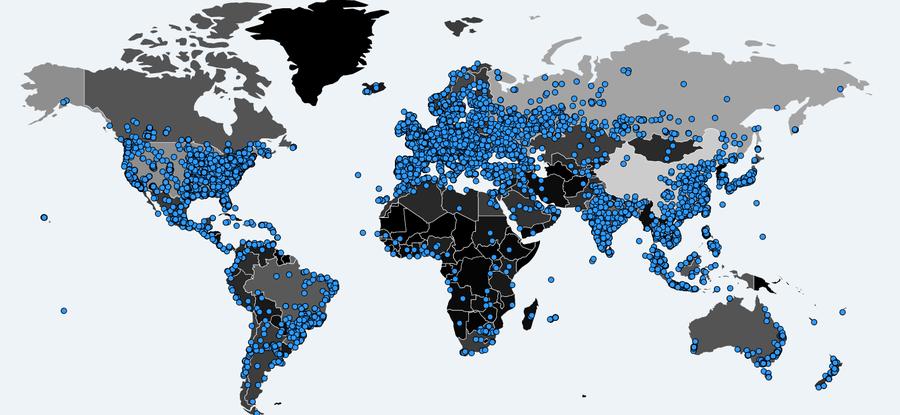 Map of WannaCry Targets (NPR, 2017)