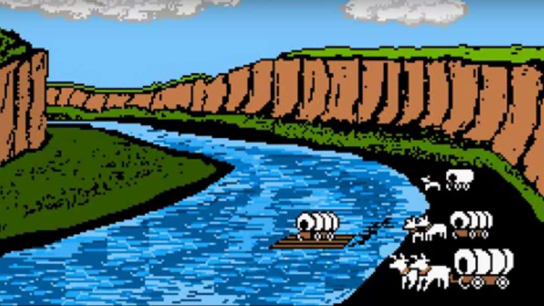 Oregon Trail video game still