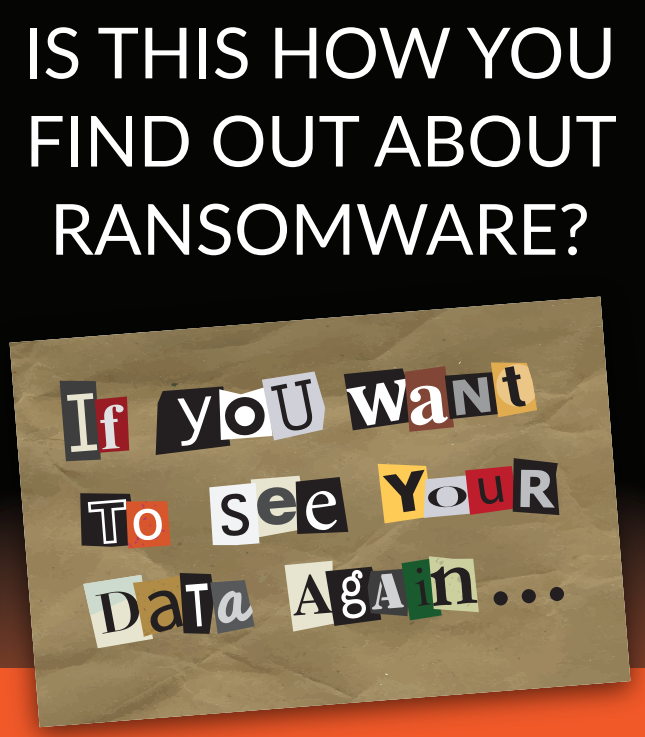 ransomware prevention - ransomware note graphic