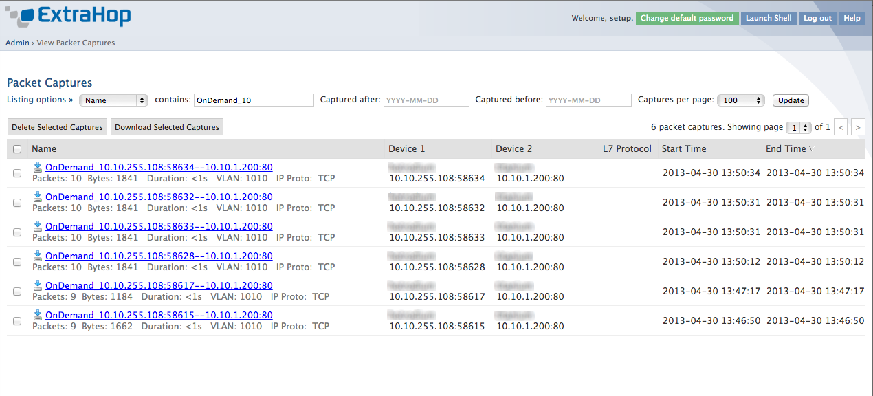 Packet Capture screenshot
