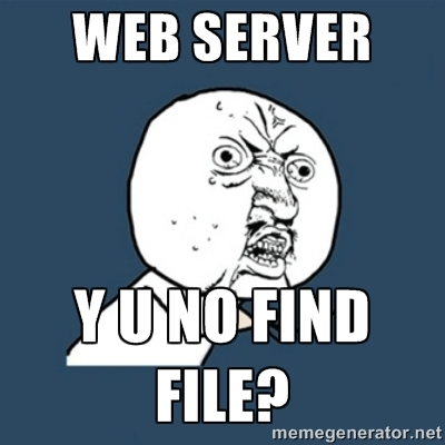Y U NO find file