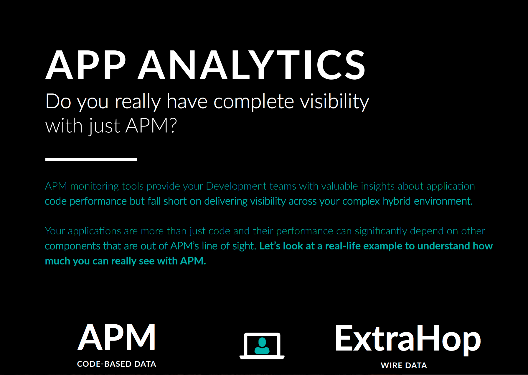 Application Analytics with ExtraHop