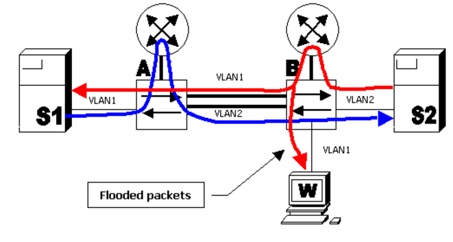 Unicast Flooding Caused by Asymmetric Routing