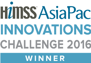 Winners logo for HIMSS AsiaPac Innovation Challenge