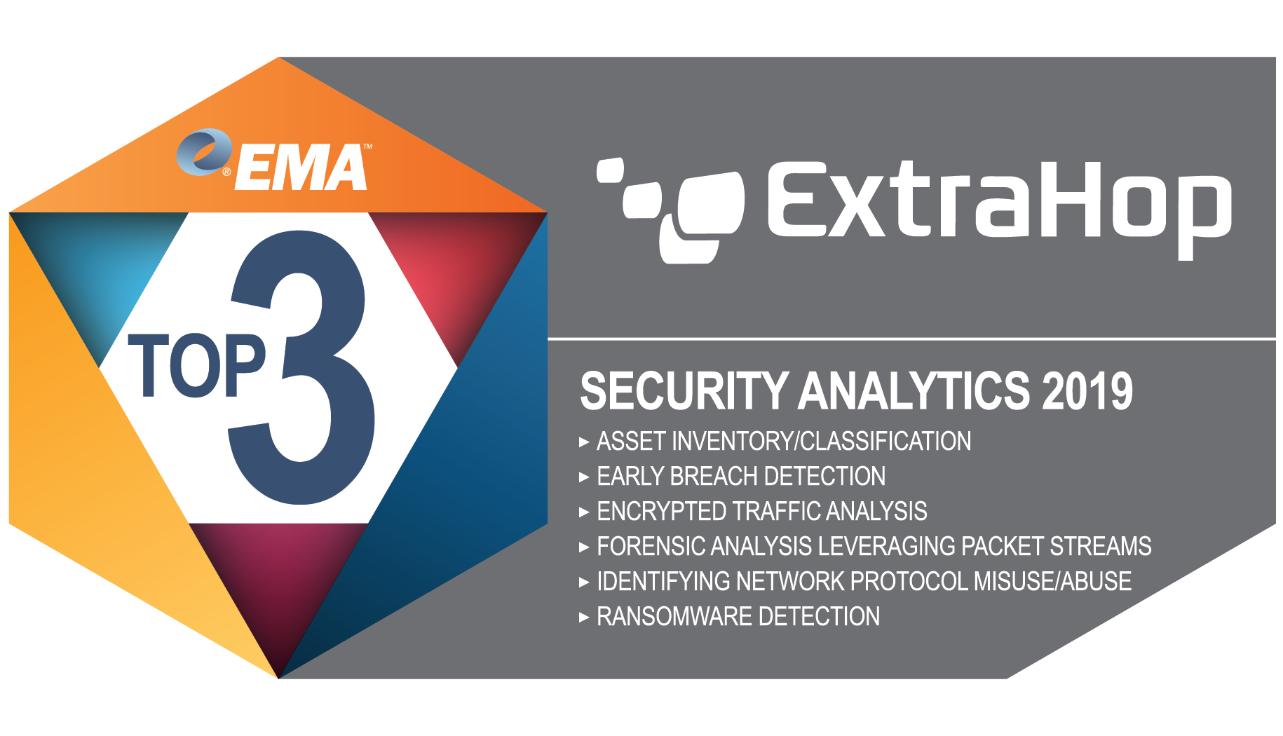 Top 3, EMA Security Analytics 2019