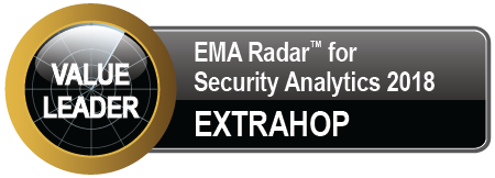 Value Leader, EMA Radar for Security Analytics 2018