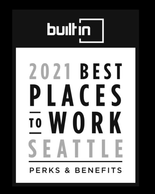 BuiltIn Seattle Best Workplace 2021