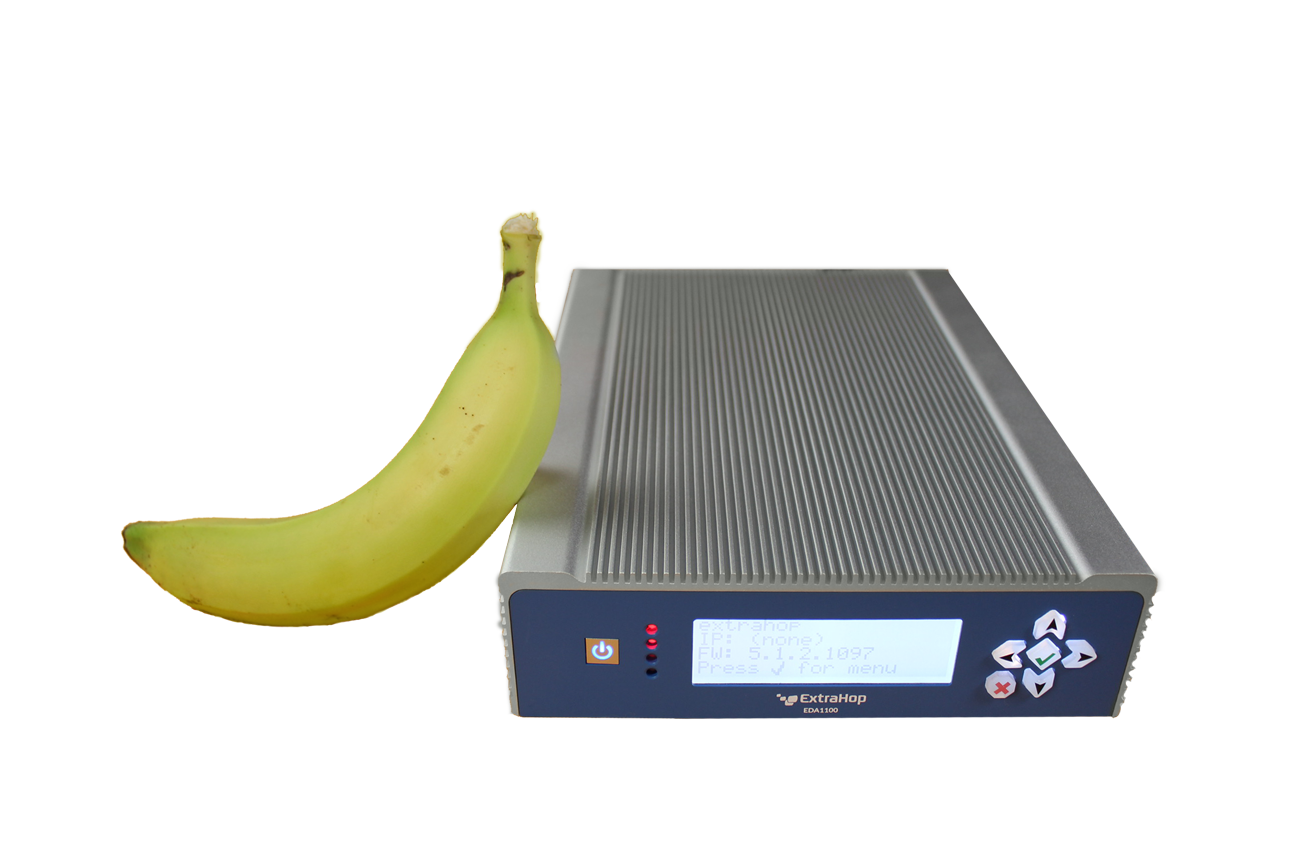 EDA 1100 with banana for scale