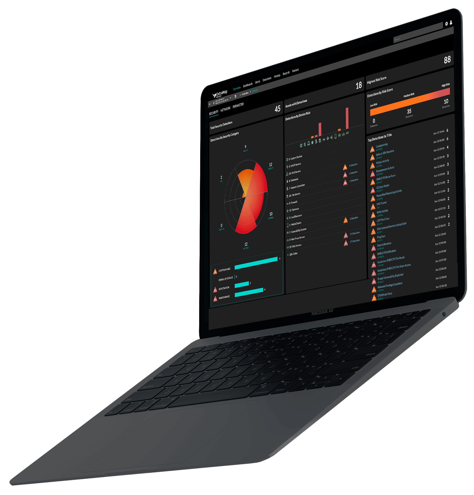 Laptop with Reveal(x) Cloud UI
