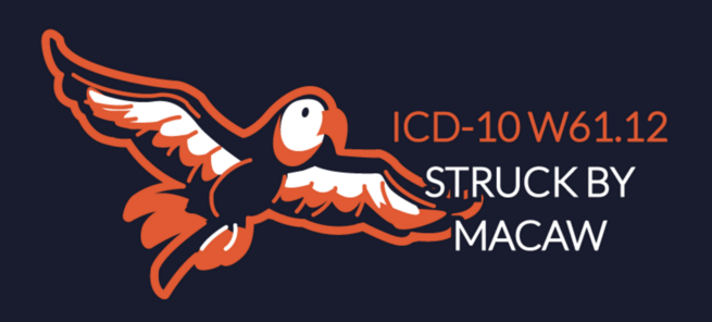 Struck By Macaw ICD-10 Code T-Shirt
