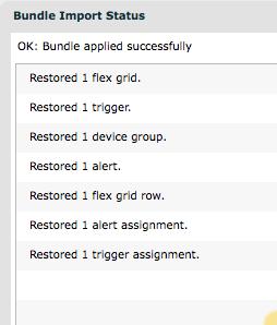 Bundle installation status screen