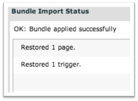 Bundle applied success screen