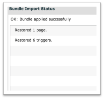Bundle import details