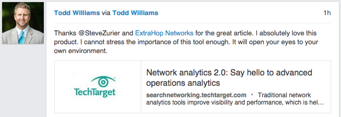 Todd Williams of MEDHOST uses ExtraHop to turn IT into a profit center