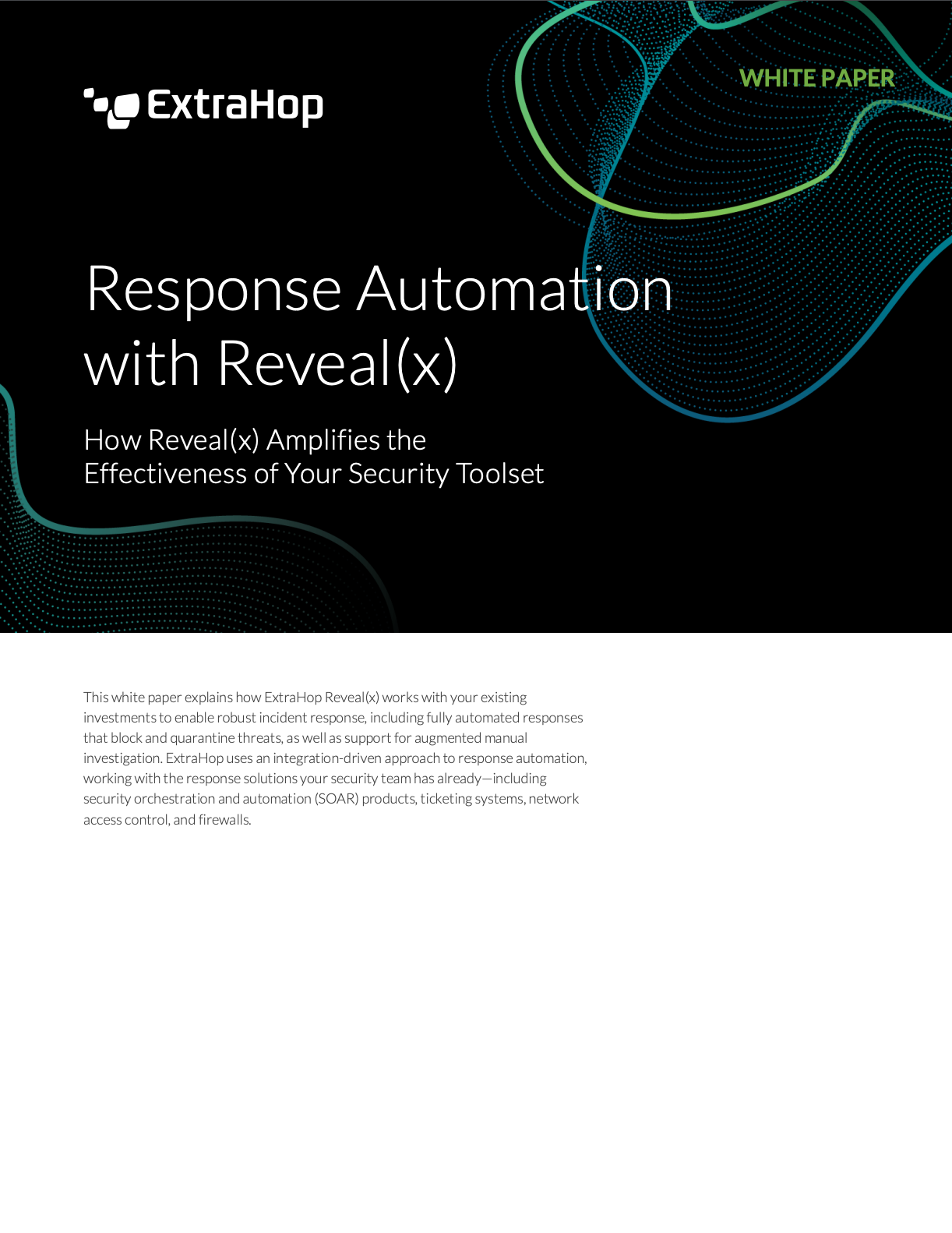 Reveal(x) Response Automation White Paper