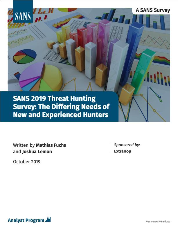 SANS 2019 Threat Hunting Survey