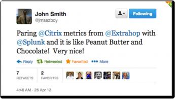 Peanut butter Splunk tweet