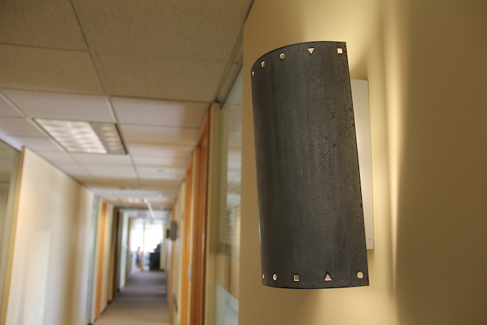 ExtraHop HQ still boasts some of the wall sconces from Visio Corp in 520 Pike Tower.